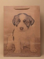Dog print gift bag - large  (Code 2529)